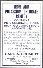 #ZBOT224 - Iron Potassium Chlorate Remedy Bottle Label