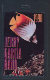 ##MUSICBP0361 - 1990 Jerry Garcia Band Laminated Backstage Pass from the 1990 Tour