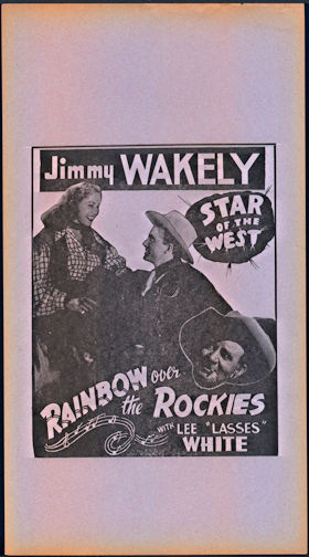 #CH326-33 - JImmy Wakely Rainbow Over the Rockies Poster/Broadside