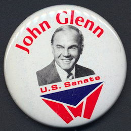 #PL330 - 1974 John Glenn for U. S. Senate Pinback