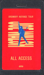 ##MUSICBP0682 - Joe Walsh OTTO Laminated Backstage Pass from the 1991 Ordinary Average Tour
