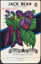 #CE009 - Brilliantly Colored Jack Bean Hyacinth Lone Star 10¢ Seed Pack - As Low As 50¢ each