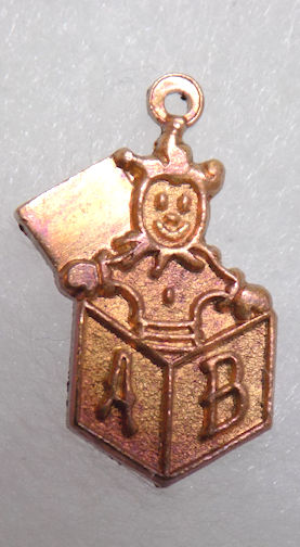 #BEADSC0263 - Copper Jack in the Box Charm - As low as 25¢ each