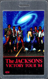 ##MUSICBP0020  - Laminated The Jacksons 1984 Victory Tour Promoter Backstage Pass