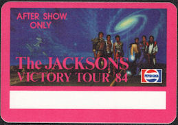 ##MUSICBP0530  - Group of 4 Different The Jacksons 1984 Victory Tour After Show OTTO Cloth Backstage Passes