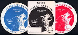 ##MUSICBP0127 - James Taylor OTTO Cloth Backstage Pass from the 1987/88 Tour - As low as $2 each