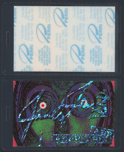 ##MUSICBP0058  - Uncommon Jane's Addiction Laminated Perri Backstage Pass from the 2002 Tour