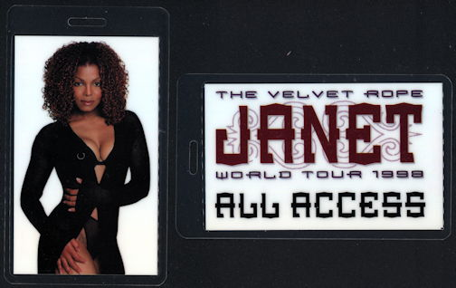##MUSICBP0338 - Laminated Janet Jackson All Access OTTO Backstage Pass from the 1998 Velvet Rope Tour