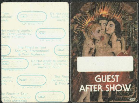 ##MUSICBP0780  - Rare Jane's Addiction OTTO Cloth Backstage Pass from the 1991 Ritual de lo Habitual Tour