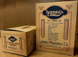 #CS414 - Pair of Large Janney's Pure Candy Boxes - Very Old