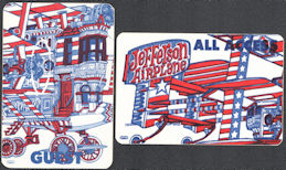 ##MUSICBP0827 - Group of 5 Different Rare Jefferson Airplane OTTO cloth Backstage Puzzle Passes from the 1989 Jefferson Airplane Tour