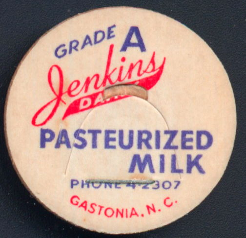 #DC174 - Jenkins Dairy Pasteurized Milk Bottle Cap