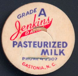 #DC174 - Jenkins Dairy Pasteurized Milk Bottle Cap