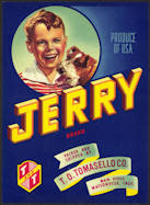 #ZLC330 - Jerry Vegetable Crate Label - Boy and Fox Terrier