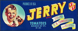 #ZLCA*059 - Jerry Tomatoes Crate Label - Terrier