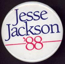 #PL271 - Large 1988 Jesse Jackson Presidential Candidate Pinback