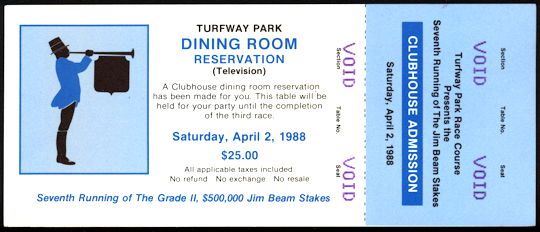 #BA712 - Voided Ticket for Turfway Park at the 7th Running of the Jim Beam Stakes - As low as $5 each