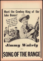 #CH326-21 - JImmy Wakely Song of the Range Poster/Broadside
