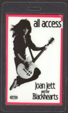 ##MUSICBP0045  - Scarce 1983 Joan Jett and the Blackhearts Laminated Backstage Pass from The Album Tour