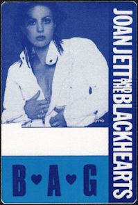 ##MUSICBP0655 - Joan Jett and the Blackhearts OTTO Cloth Backstage Pass from the 1990 Hit List Tour