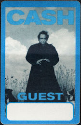 ##MUSICBP0867 - Rare Johnny Cash OTTO Cloth Guest Backstage Pass from the American Recordings Tour