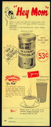 #DA098  - Riverside Dairy Milk Bottle Carrier Insert Sheet for Johnston Instant Chocolate