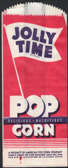 #PC062 - Group of 12 Jolly Time Popcorn Bags