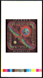 ##MUSICBG0096 - Rare Journey OTTO Cloth Backstage Pass Proof Sheet from the 1980 Departure Tour