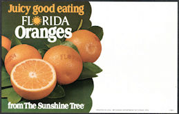 #SIGN237 - Cardboard Florida Oranges From the Sunshine Tree Sign