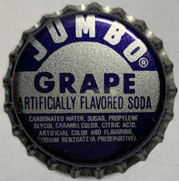 #BC228 - Group of 10 Jumbo Grape Plastic Lined Soda Bottle Caps