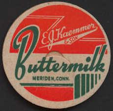 #DC153 - Uncommon Deco Design E. J. Kaemmer & Son Buttermilk Bottle Cap