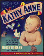 #ZLC275 - Kathy Anne Brand Vegetable Crate Label
