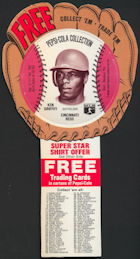 #BA124 - 1977 Pepsi Glove Disc Carton Insert Featuring Ken Griffey Sr.