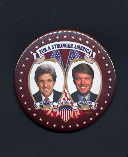 #PL318 - Large Kerry Edwards Jugate Pin - For a Stronger America
