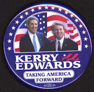 #PL295 - Large Kerry Edwards Taking America Forward Jugate