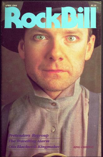 ##MUSICBG0046  - April 1984 RockBIll Magazine - Robert Fripp (King Crimson Guitarist) Cover