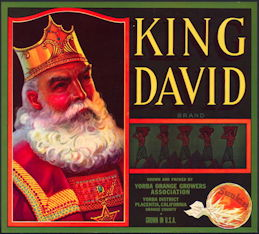 #ZLC428 - King David Sunkist Orange Crate Label