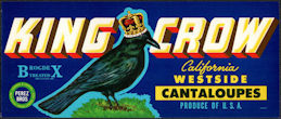 #ZLCA*069 - King Crow California Westside Cantaloupes Label - Large Crow
