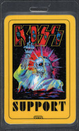 ##MUSICBP0731 - KISS OTTO Laminated Backstage Support Pass from the 1992 Revenge Tour