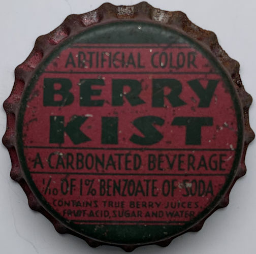 #BC225 - Super Rare Berry Kist Cork Lined Soda Bottle Cap