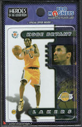#BA138 - Kobe Bryant Magnetized Player Card from 1998