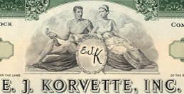 #ZZCE063 - E. J. Korvette, Inc. Stock Certificate