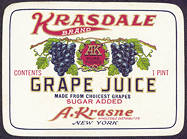 #ZBOT120 - Krasdale Grape Juice Bottle Label