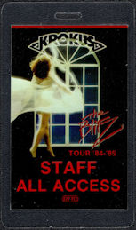 ##MUSICBP0569 - 1984 Krokus OTTO Laminated Backstage Pass from the Blitz Tour