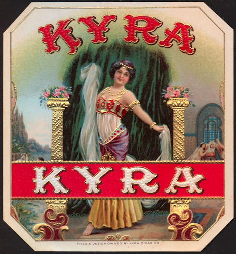 #ZLSC089 - Kyra Exotic Dancer Outer Cigar Box Label