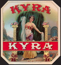 #ZLSC089 - Kyra Exotic Dancer Outer Cigar Box Label
