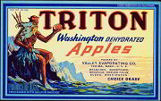 #ZLC123 - Triton Washington Apples Crate Label