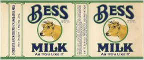 #ZLCA032 - Early Bess Milk Can Label
