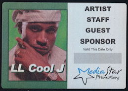 ##MUSICBP0312 - LL Cool J OTTO Cloth Backstage Pass from the 2013 Tour