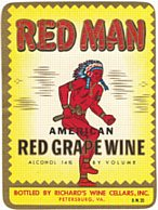 #ZLW014 - Red Man Wine Label